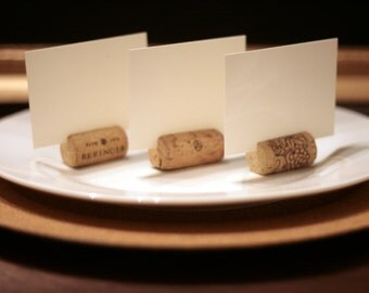 Wine Cork Place Card Holders (Set Of 75), Vineyard Wedding, Winery Wedding, Wedding Favors, Upcycled Wine Cork, Rustic Wedding, Party Favors