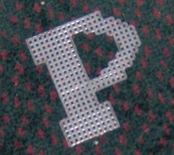 4 Inch Pre Cut Plastic Canvas Letters P