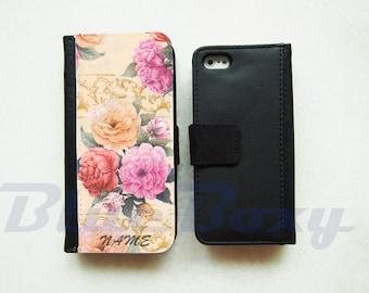 Rose Bouquet Wallet Case for iPhone 7, iPhone 6, iPhone 6s, iPhone 6 Plus, iPhone 5, iPhone 5s, iPhone 4/4s, Leather Wallet Case, Flip Case