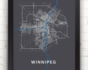 Far Sky Winnipeg, Manitoba Roadnet Map