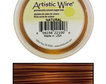 Artistic Wire Natural Copper 24ga - 20 Yard Spool  (WR31424)