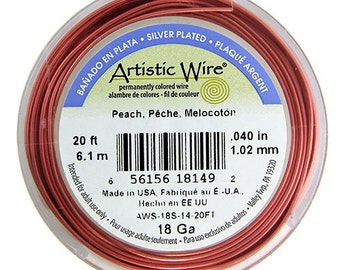 Artistic Wire SP Peach Color 20ga - 25 Foot Spool  (WR37020)