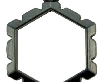 Wrapper Hexagon by Artistic Wire Hematite Color (Pkg of 5)  (810HC-08)