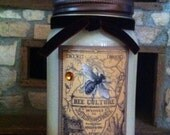 NEW! Bee Journal 16oz Mason Jar Soy Candle in Your Choice of Scent Gift ideas Birthdays Hostess Weddings Home Decor