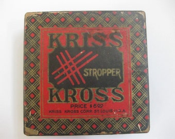 Kriss Kross razor blade sharpener