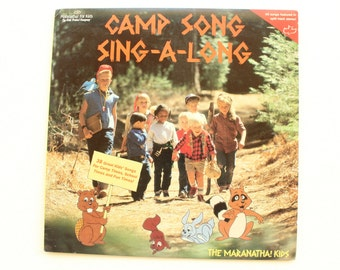 Camp Song Sing-A -Long, The Marantha! Kids, 38 Great Kids' Songs, Record Album, Vinyl, LP