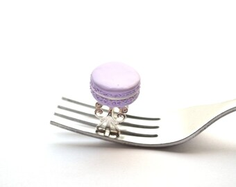 Lavender Macaron Ring, French macaron jewelry, quirky gift