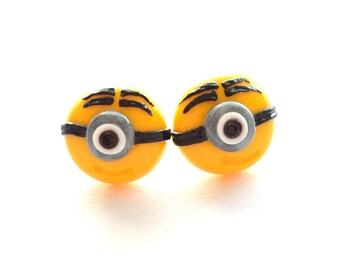 Minion Stud Earrings, Minion Post Earrings, Egst