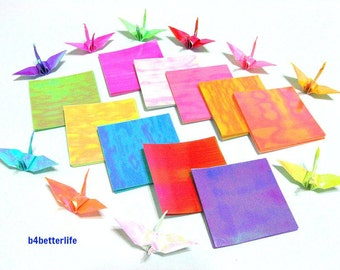 "200 Sheets 2"" x 2"" Assorted Colors DIY Chiyogami Yuzen Paper Folding Kit for Origami Cranes ""Tsuru"". (AV paper series). #CRK-21."