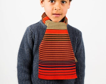 Boys Scarf, Personalised Scarf, Autumnal Scarf, Striped Scarf, Accessories, Winter Scarf, Christmas Gift, Kids Scarf, Children's Scarf, 216