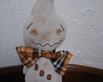 Primitive Folk Art  Halloween Self Standing Ghost Doll