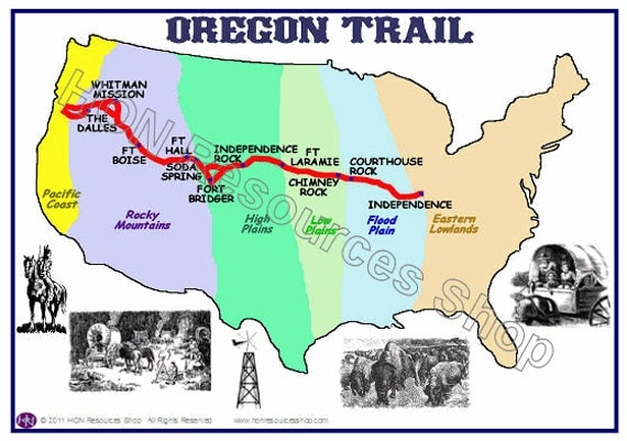Influential image pertaining to oregon trail map printable