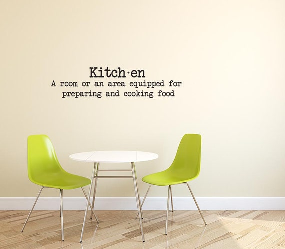 Kitchen Dictionary Definition Decal Sticker Vinyl Wall
