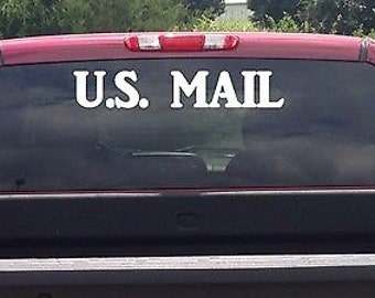 "U.S. Mail *I080* 3.2"" X 18"" Sticker Decal Mail Carrier Mailman Post Office"
