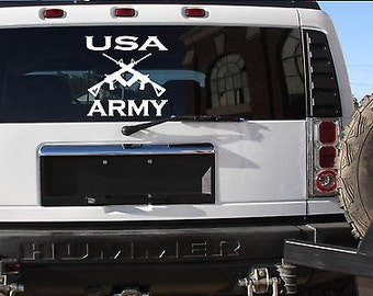 """Usa Army 13"""" Sticker *F113* Decal Police Miltary Army Navy Marines Air Force"""
