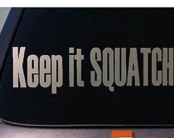 Sasquatch Bigfoot Squatch Yetti Decal Sticker
