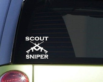 """Scout Sniper 6"""" Sticker *F99* Decal Police Miltary Army Navy Marines Air Force"""