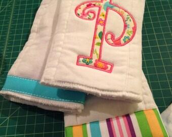 Applique burp cloth set