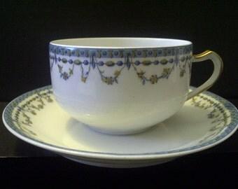 SALE Haviland & Co. Limoges Tea Cup and Saucer