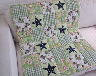 Handmade and handquilted Patchwork Quilt
