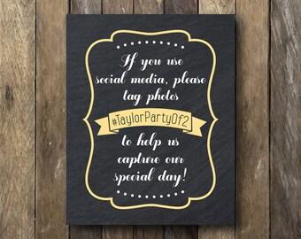 Social Media Sign - Printable Wedding Signage - If You Sign