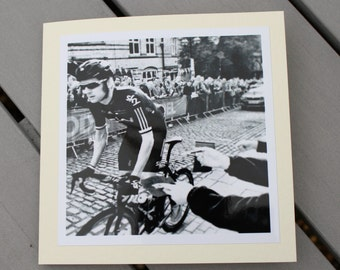 Bradley Wiggins Cycling Lover birthday card, Cycle note card