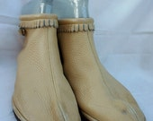 Vintage Moccasin Booties, Moccasin Slippers, 70s Ankle High Mocassins, Native American Moccasins, Hippie Shoes, Boho Shoes, Festival Shoes