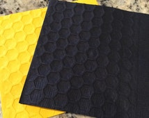 Honey Comb/ Bee Hive Hand Embossed Cocktail Napkins