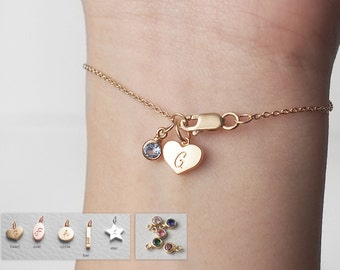 Tiny Tags/ Birthstone Add-on - For Bracelets