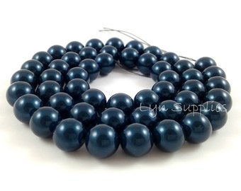5810 PETROL 10mm Swarovski Crystal Round Pearls 10 pieces