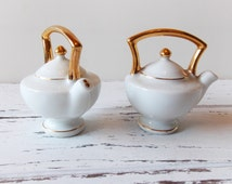 Occupied Japan Porcelain Teapot Salt and Pepper Shakers
