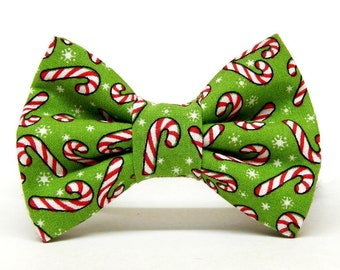 Dog Bow Tie or Collar Flower - Peppermint Bark - Cats, X-Small, Small, Medium, Large, X-Large, XX-Large