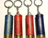 Shotgun cartridge upcycled keyring