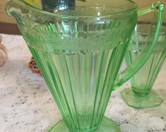 Adam Pitcher by Jeannette Glass Company