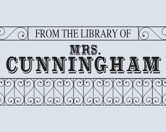 Personalized Library Stamp, From the Library of Stamp, Ex Libris, Custom Book Stamp