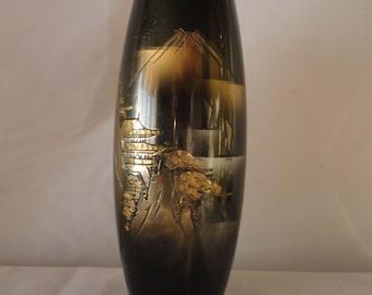 Vintage Japanese Bronze Carved Vase*******.