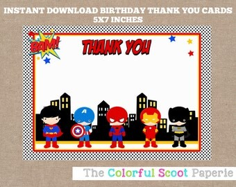 Superhero Thank You Card, Superheroes Thank You Cards, Marvel Thank You Cards, Superhero Thank You Cards, Superhero Thank You Notes (#376)