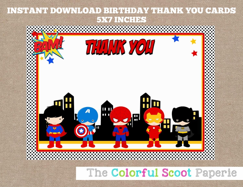 Custom Card Template superhero id card template : Superhero Thank You Card Superheroes Thank You Cards Marvel