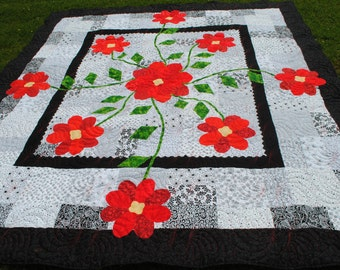 The Rose of Sharon Home-made Quilt