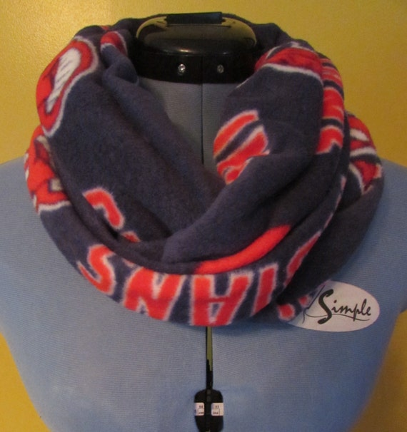 Cleveland Indians scarf/fleece infinity scarf /womens Indians scarf/mens Indian scarf/infinity scarf/Indians infinity scarf/Indians wrap
