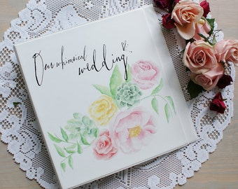 Wedding Planning Binder with a Handpainted Cover