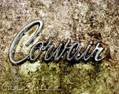 White Corvair Logo Photograph