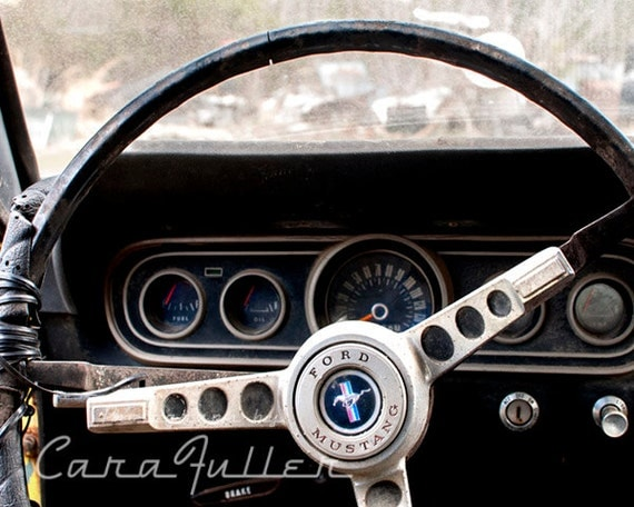 1966 ford mustang steering wheel photograph. Black Bedroom Furniture Sets. Home Design Ideas