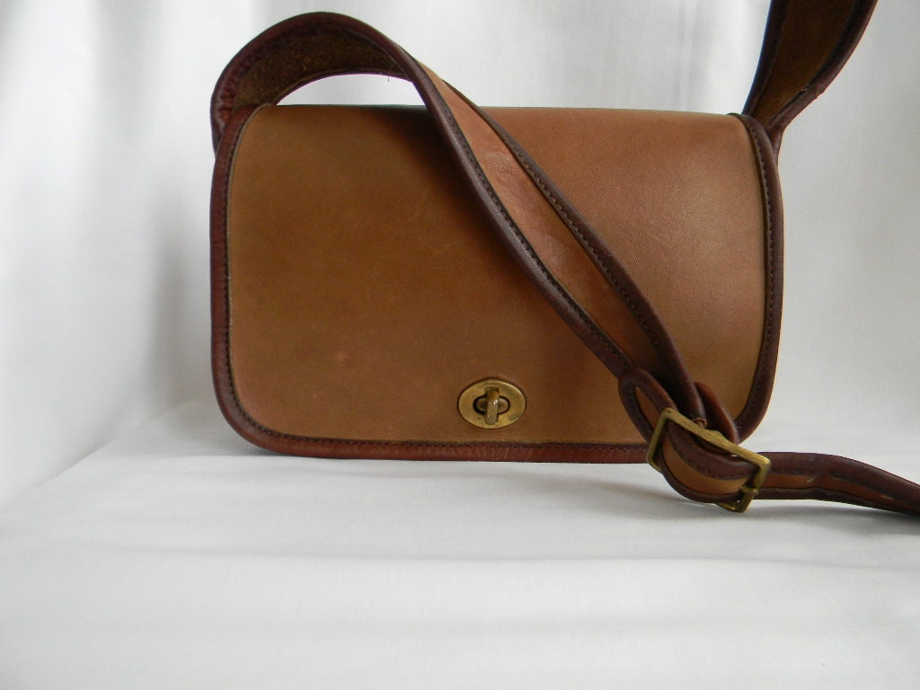 Vintage Two Tone Leather Coach Sling Bag