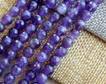 "Faceted Amethyst, Amethyst Beads, 6mm,Dark Purple, Amethist,African Amethyst,Semi Precious,Gemstone Beads,Strand, 15.5"", 64 Beads, MAN16-409"
