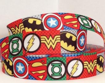 """1 Yard 1"""" Grosgrain Ribbon Super Hero"""