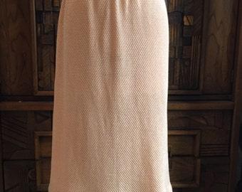 Vintage Peach Sweater Knit Skirt