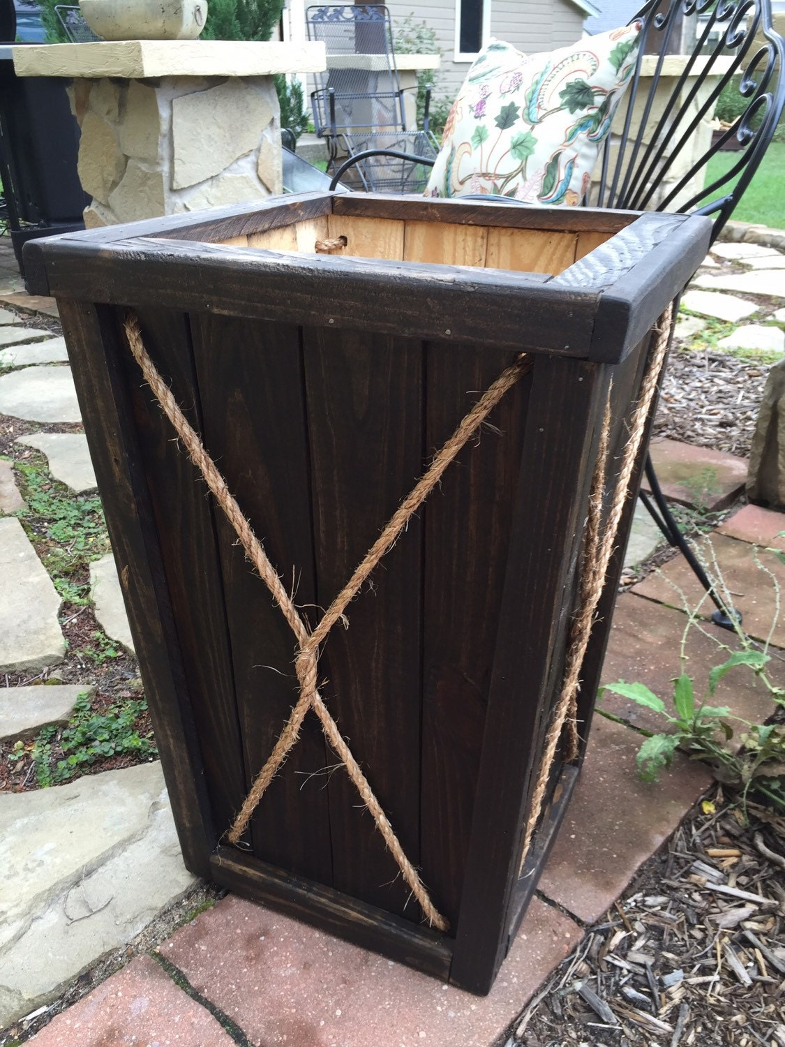 tall wood planter entryway planter wedding planter wood. Black Bedroom Furniture Sets. Home Design Ideas