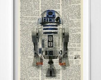 Star Wars Art - Star Wars Dictionary Print - R2D2 - R2D2 Poster - R2D2 Dictionary Poster - Star Wars Wall Art - Star Wars R2D2 -