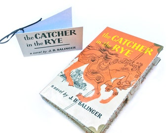 """The Catcher in the Rye Wallet, JD Salinger, Wallet made out of a book, """"I like it when somebody gets excited about something. It's nice"""""""